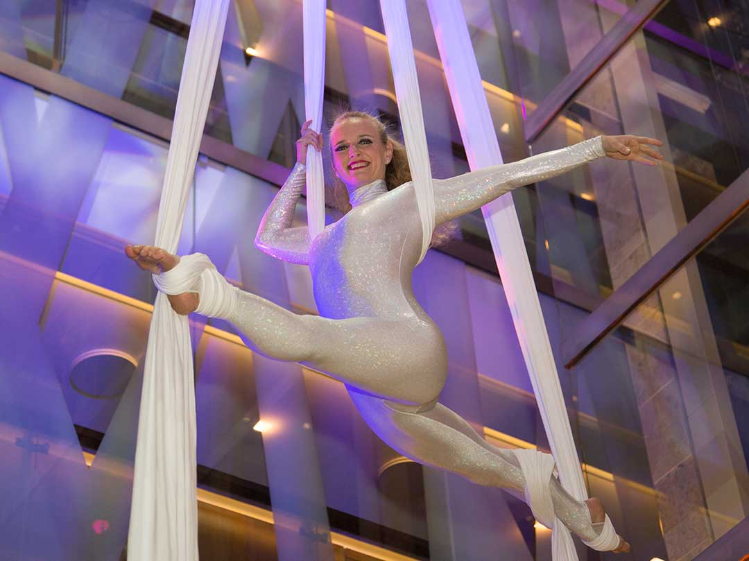 Luxury Event Property Launch Acrobats Aerial Artist Entertainment JustSeventy